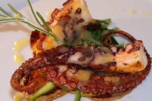 Recipe- Grilled octopus with creamy potato